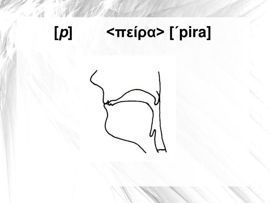 [p] <πείρα> [΄pira]